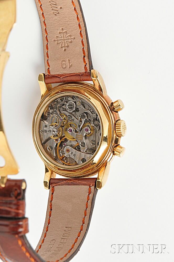 Gentleman's 18kt Gold Perpetual Calendar Chronograph Wristwatch, Patek Philippe