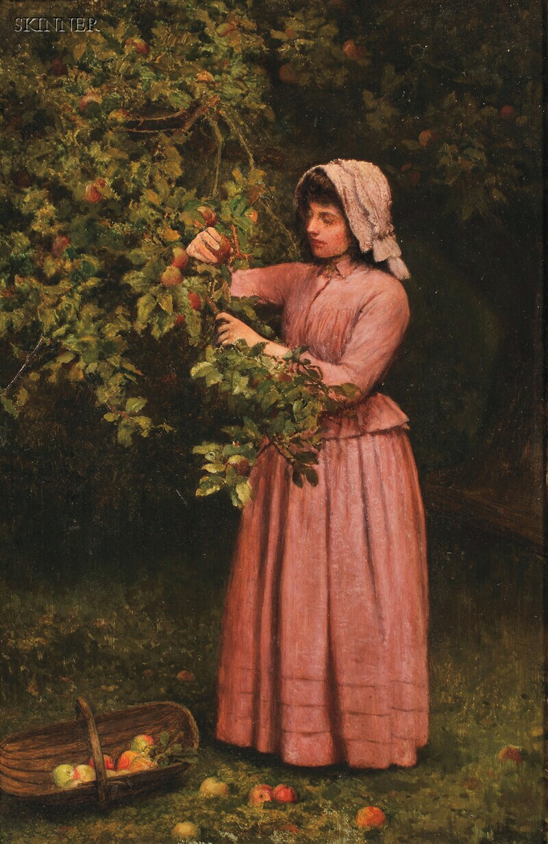 David Lawson (American, 1847-1911)      In the Orchard