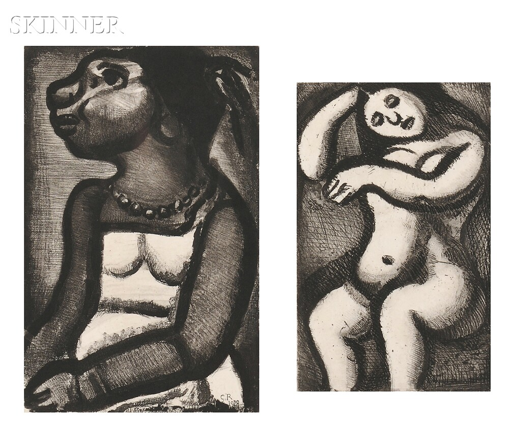 Georges Rouault (French, 1871-1958)      Two Works from Réincarnations du Père Ubu
