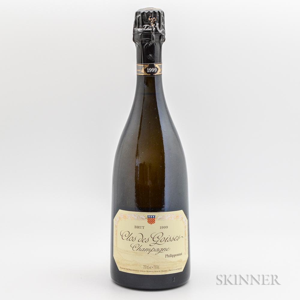 Philipponnat Champagne Brut Clos des Goisses 1999, 1 bottle