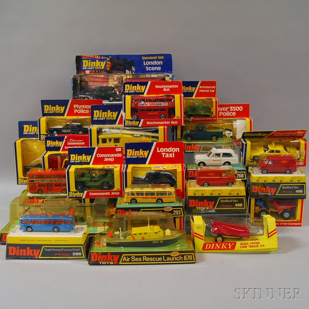 Twenty-seven Meccano Dinky Toys Die-cast Metal Vehicles