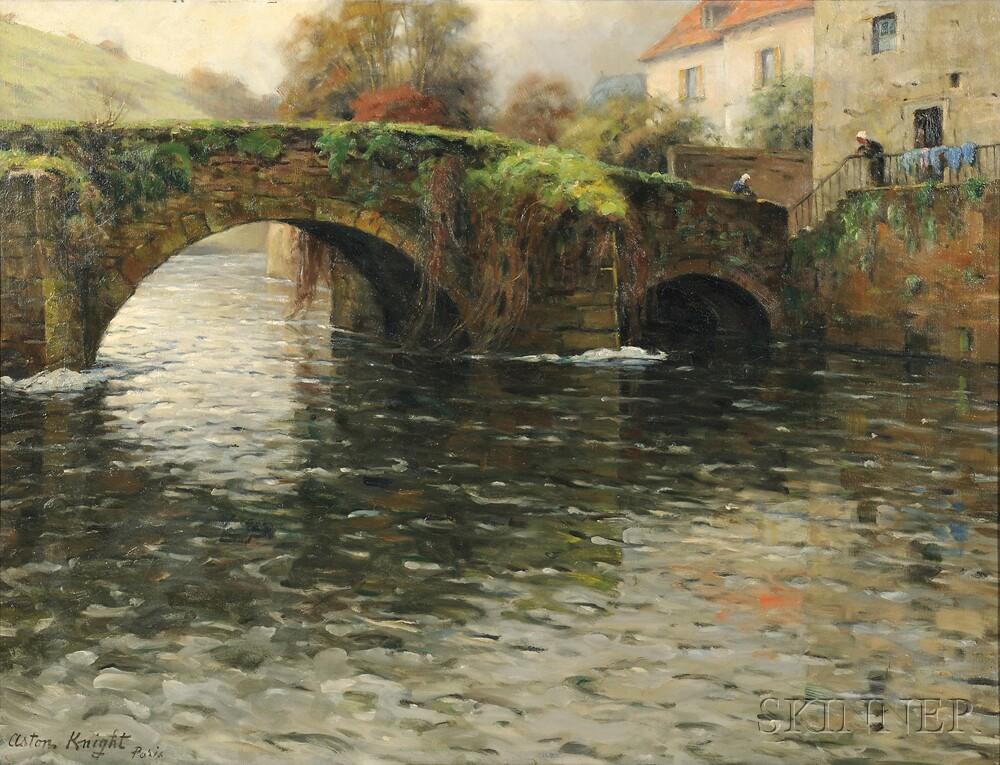 Louis Aston Knight (American, 1873-1948)      Old Bridge at Quimperle