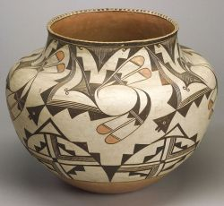 Large Southwest Painted Pottery Olla