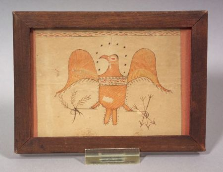 American School, 19th Century      Portrait of an Eagle with Arrows and Olive Branches.