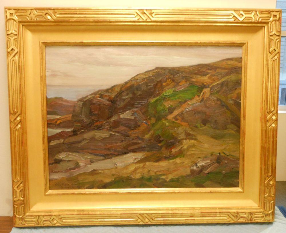 Charles Herbert Woodbury (American, 1864-1940)      Rocks by the Sea