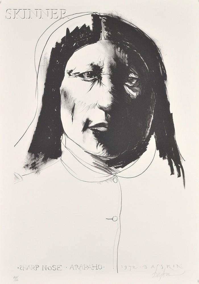 Leonard Baskin (American, 1922-2000)      Sharp Nose