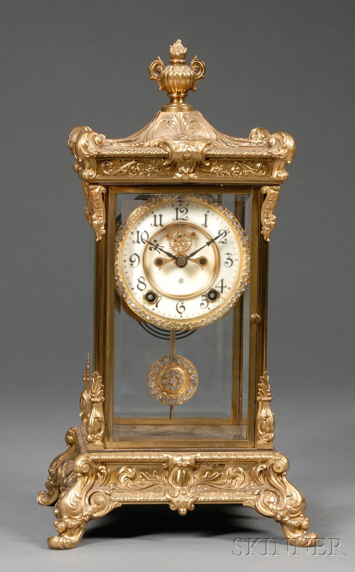 Ansonia Gilt-metal Mantel Clock