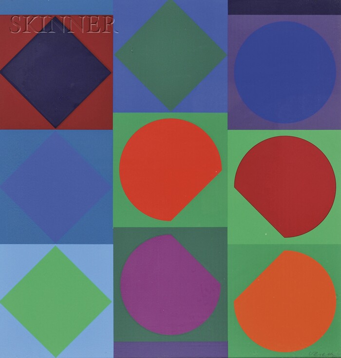 Victor Vasarely (French/Hungarian, 1906-1997)      Planetary Folklore
