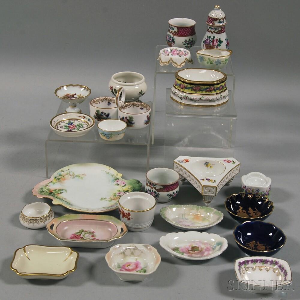 Twenty-four European Porcelain Salts