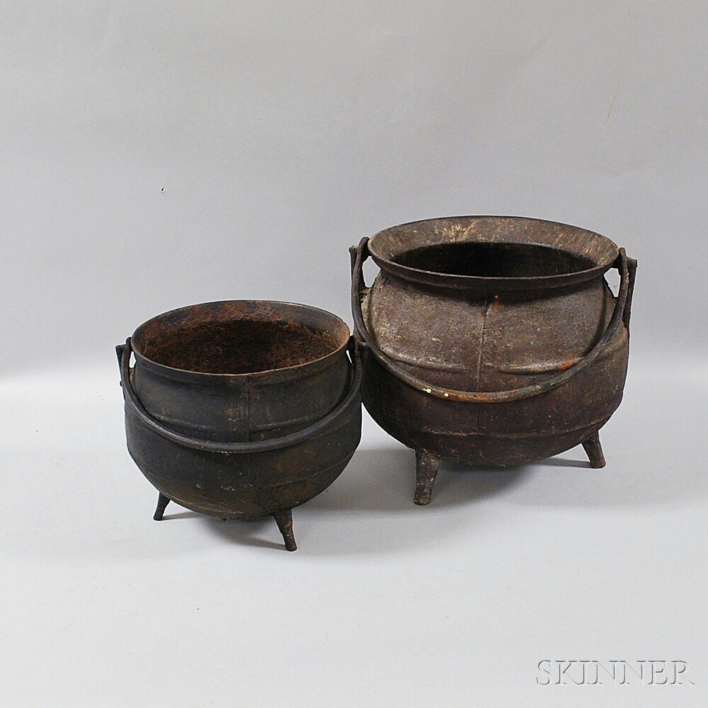 Two Cast Iron Pots