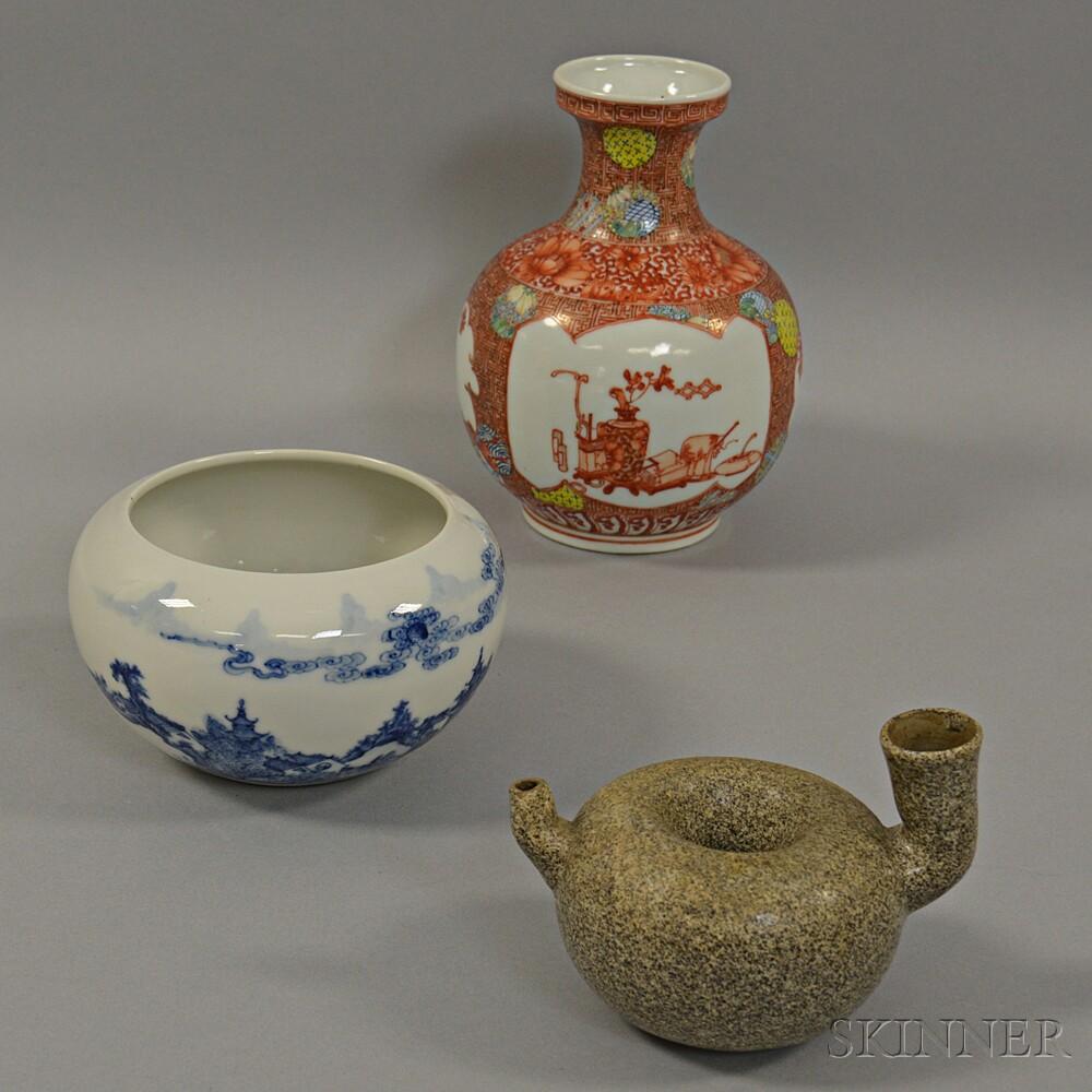 Three Ceramic Vessels