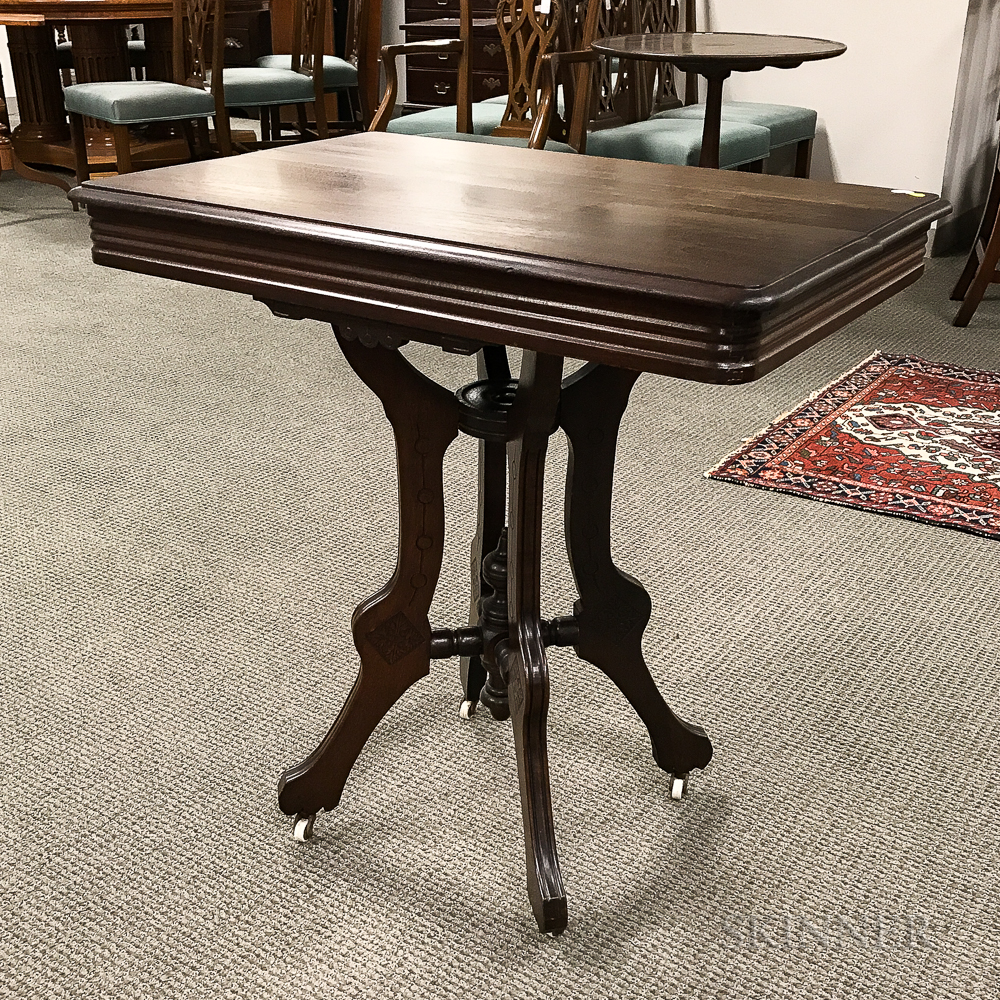 Renaissance Revival Carved Walnut Occasional Table