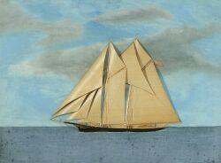 Attributed to Thomas Willis (American, 19th Century)  Portrait of the Schooner Carlotta.