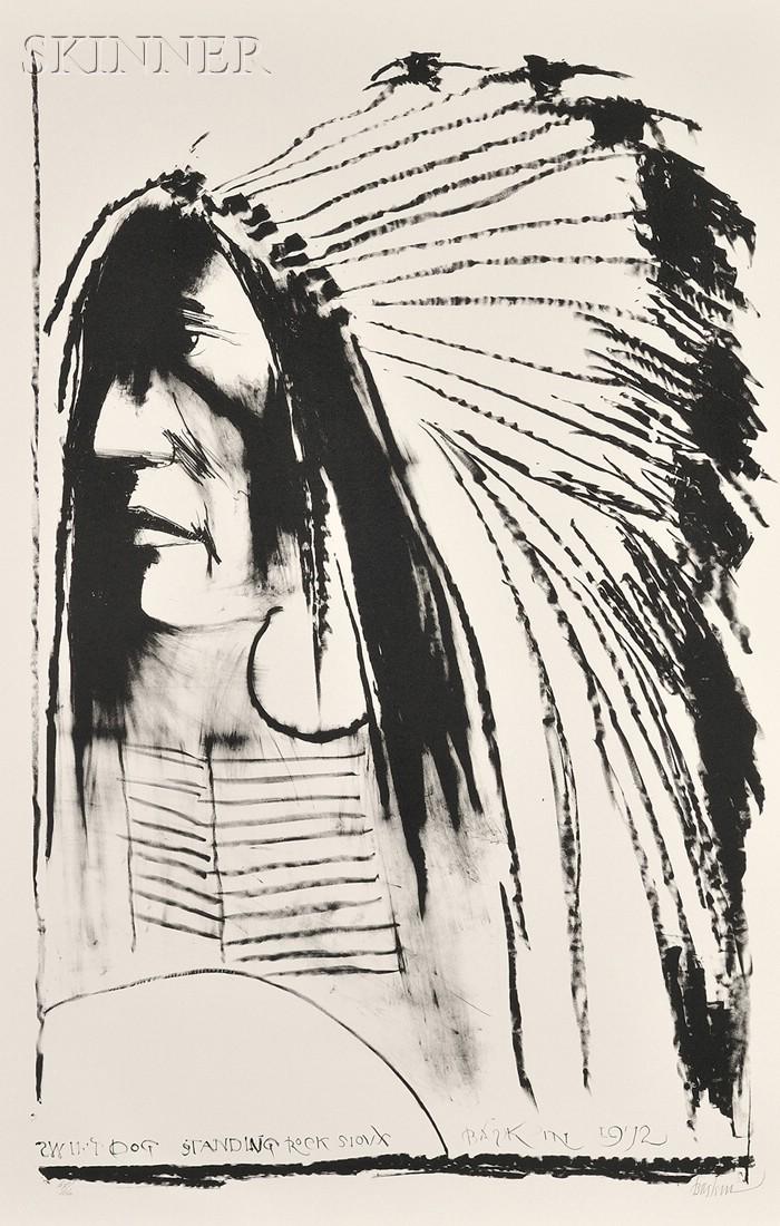 Leonard Baskin (American, 1922-2000)      Swift Dog