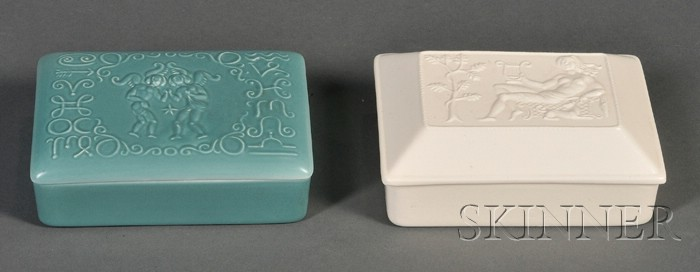 Two Wedgwood Arnold Machin Design Boxes and Covers