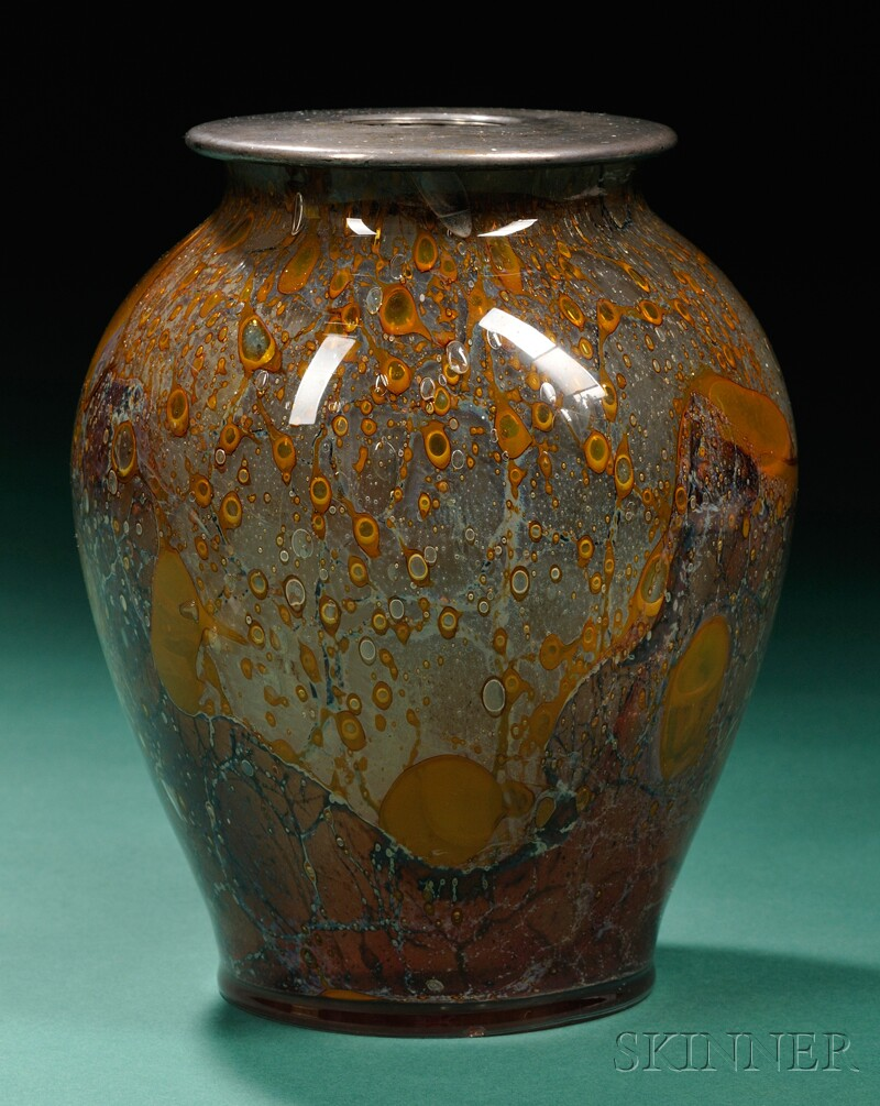 Agate Vase Attributed to Steuben