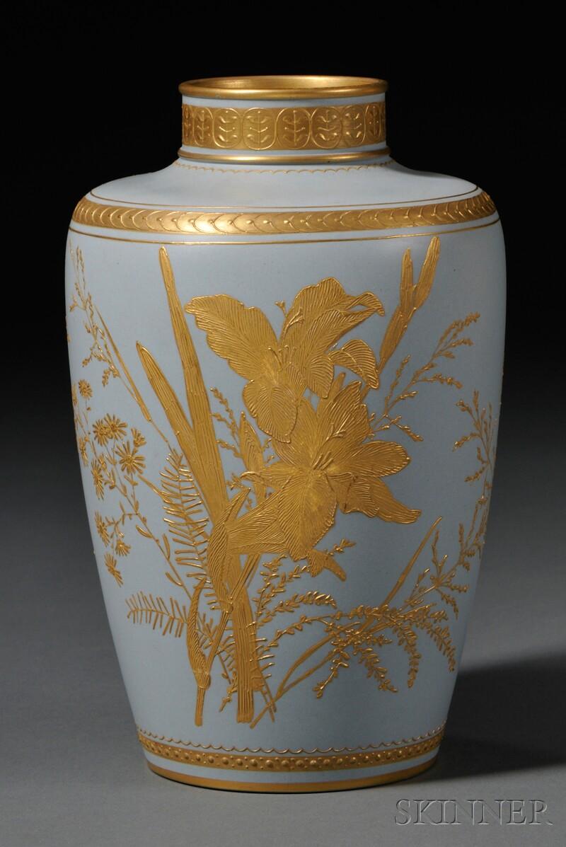 Wedgwood Blue Ground Stoneware Vase
