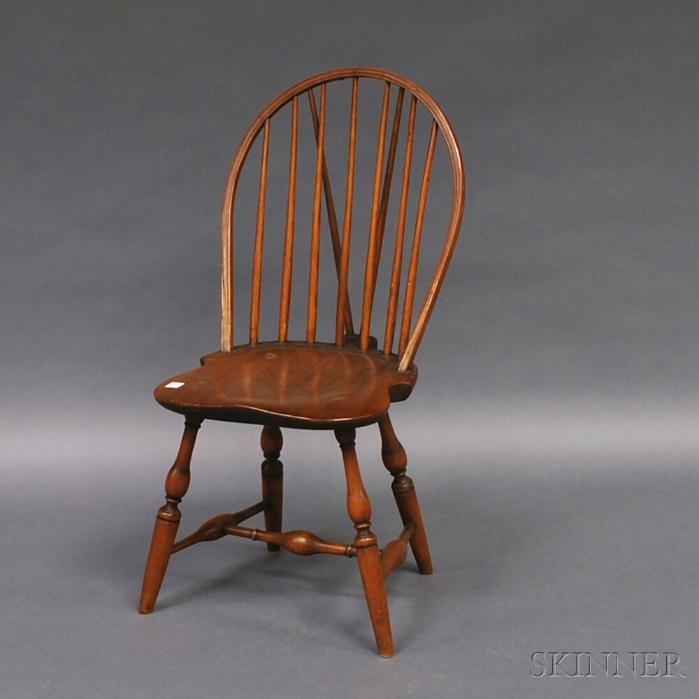 Bon Bow Back Brace Back Windsor Side Chair