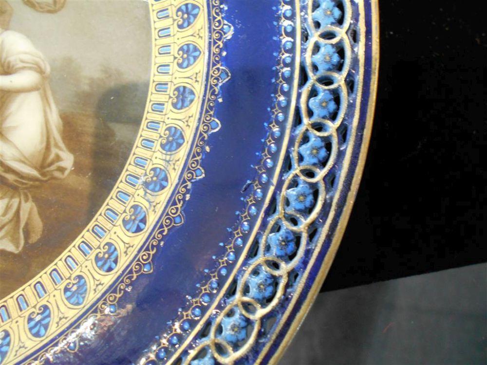 Meissen Porcelain Hand-painted Cabinet Plate
