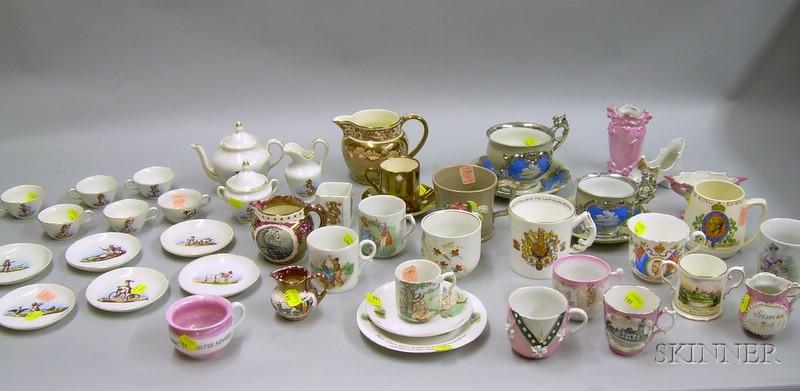 Group of Children's, Commemorative, and Souvenir Ceramic Articles