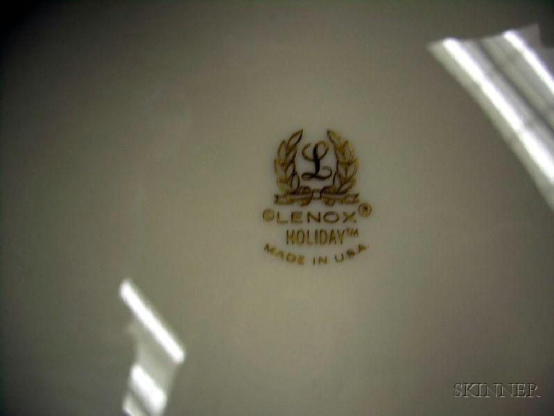 Approximately 139-piece Lenox Holiday Pattern Porcelain Dinner Service