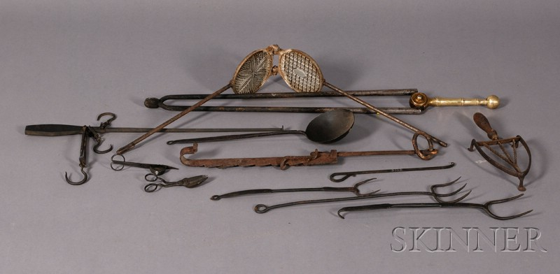 Twelve Assorted Early Hearth Implements