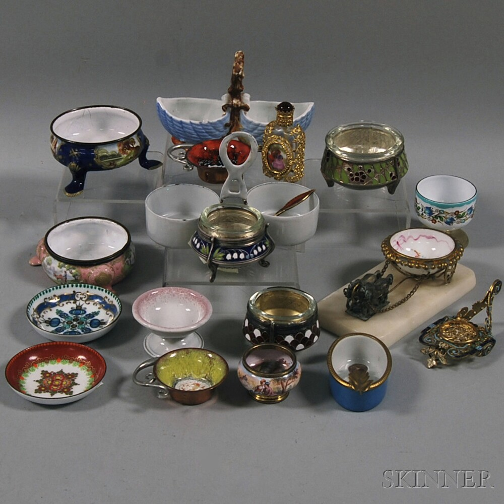 Eighteen Mostly European Enameled Objects