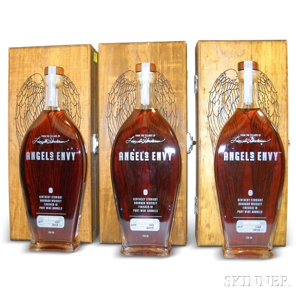Angels Envy Cask Strength, 3 750ml bottles (owc)