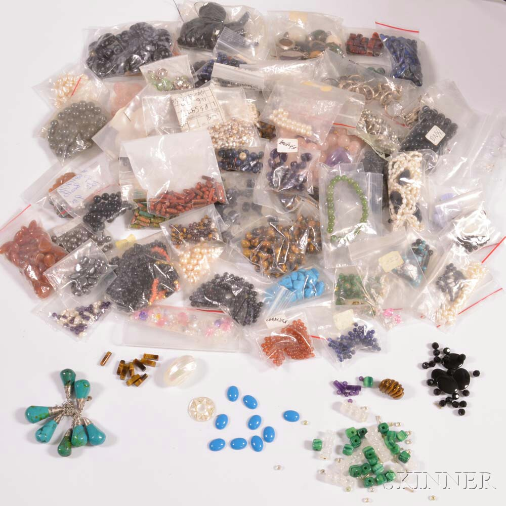 Group of Unmounted Beads, Findings, and Gemstones