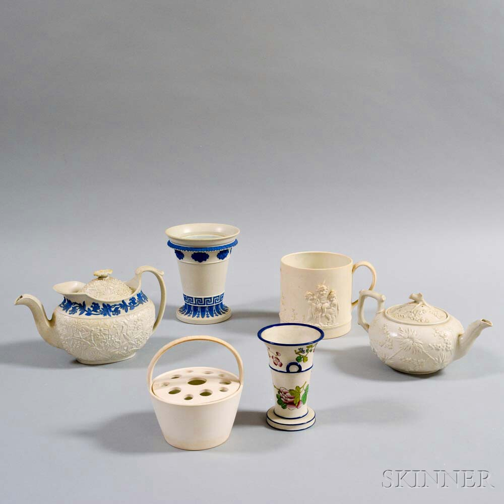 Six Assorted Wedgwood Stoneware Items