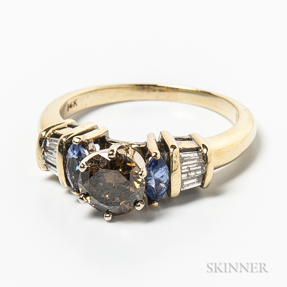 14kt Gold, Tanzanite, and Diamond Ring