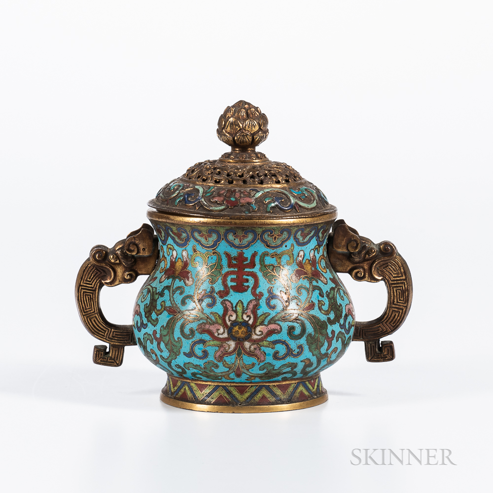 Cloisonne Covered Censer