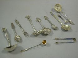 Eleven Sterling Silver Serving, Souvenir and Flatware Items