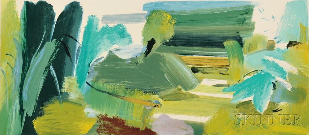 Ivon Hitchens (British, 1893-1979)      For John Constable