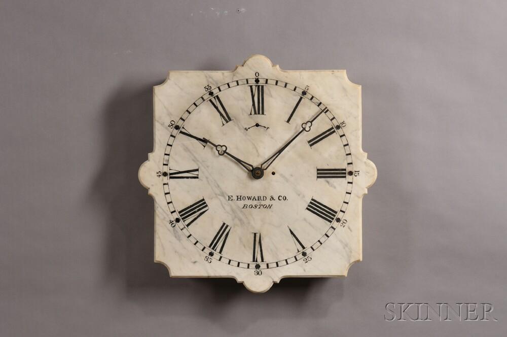 E. Howard No. 20 Marble Dial Wall Clock
