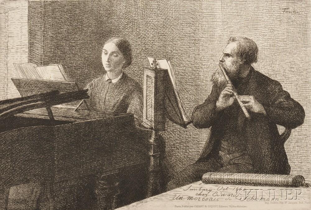 Henri Fantin-Latour (French, 1836-1904)      Un morceau de Schumann