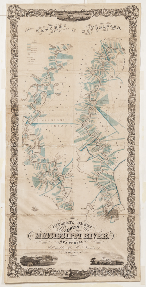 Mississippi River. Marie Adrien Persac (1823-1873) Norman's Chart of the Lower Mississippi River.