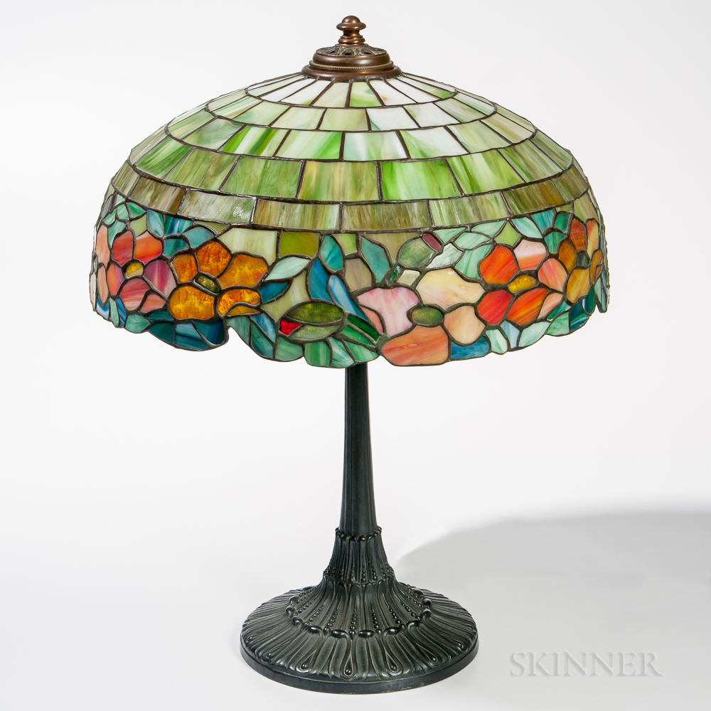 "Wilkinson Mosaic Glass ""Peony"" Table Lamp"