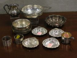 Thirteen Silver Plated and Sterling Silver Hollowware Serving Pieces.