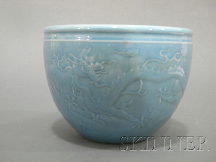 Powder Blue Glazed Jar