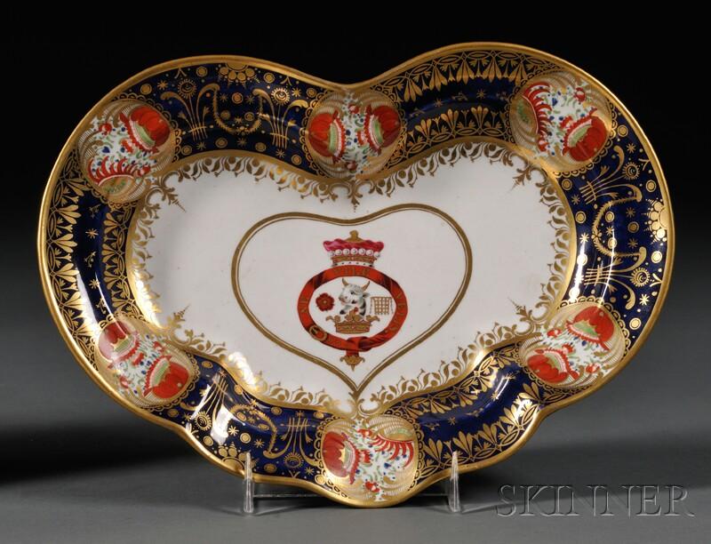 Chamberlain's Worcester Porcelain Heart-shaped Dish