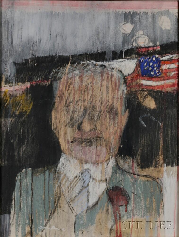 Richard Marshall Merkin (American, 1938-2009)      Portrait of Herbert Hoover