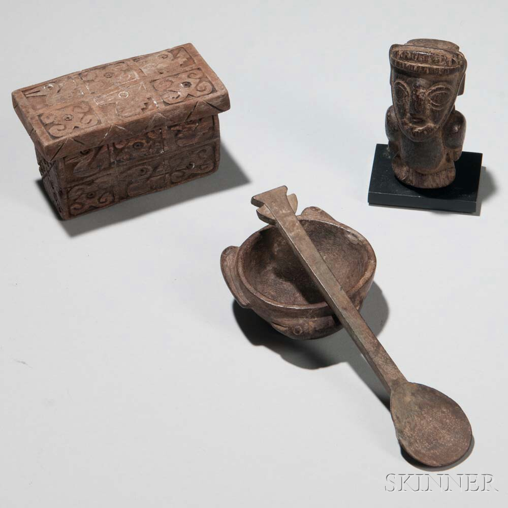 Four Pre-Columbian Wood Items