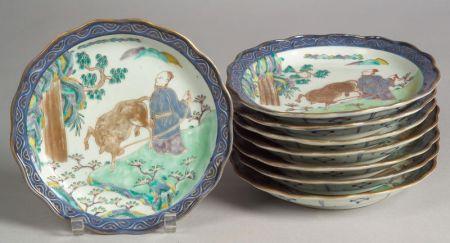 Set of Eight Plates