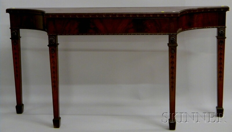 George III-style Carved Mahogany Console Table