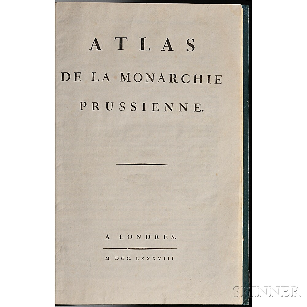 Mirabeau, Honore-Gabriel de Riquetti, Comte de (1754-1792) Atlas de la Monarchie Prussienne.
