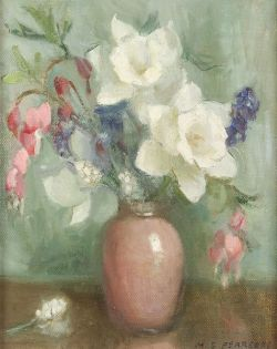 Marguerite Stuber Pearson (American, 1898-1978)  Lot of Two Floral Still Lifes:  White Daffodils