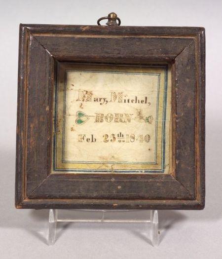 Small Framed Birth Record