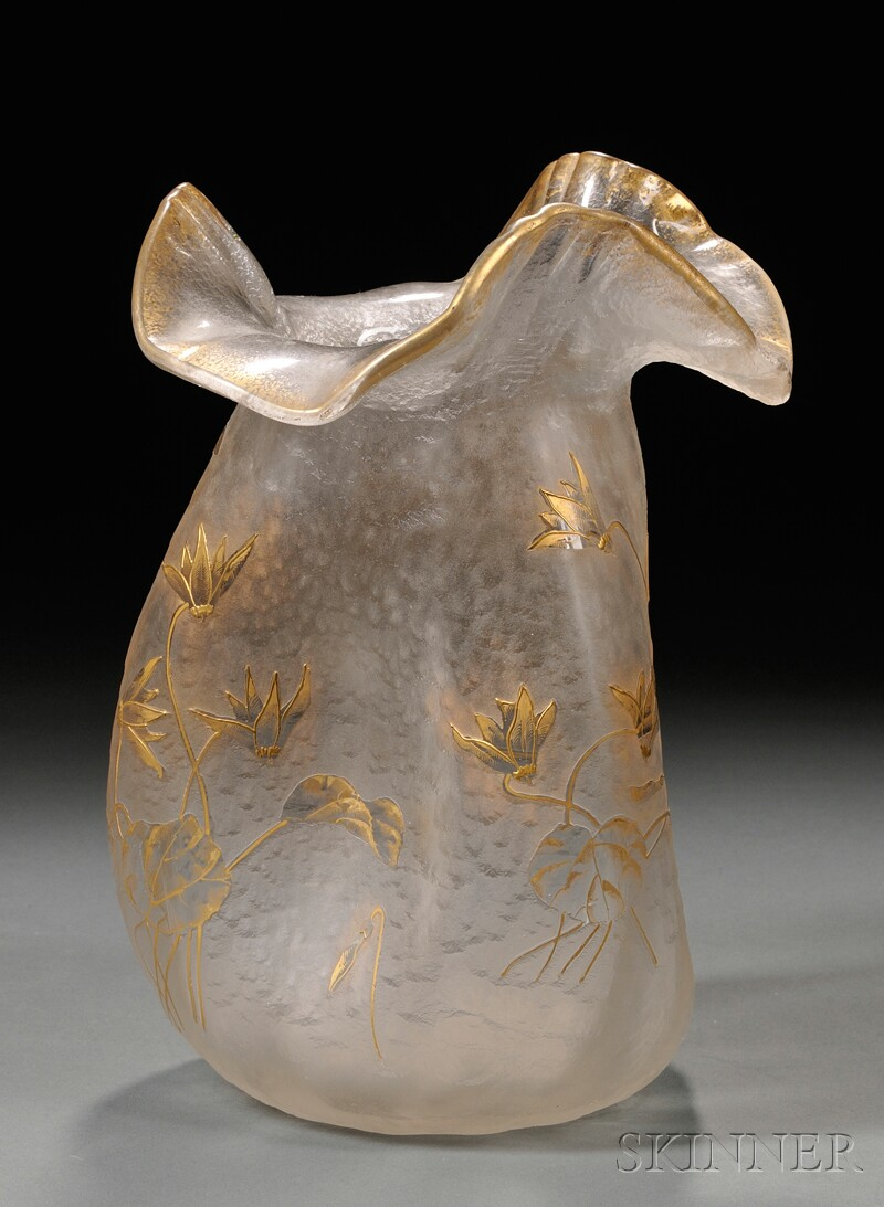 Art Nouveau Cameo Vase Attributed to St. Louis