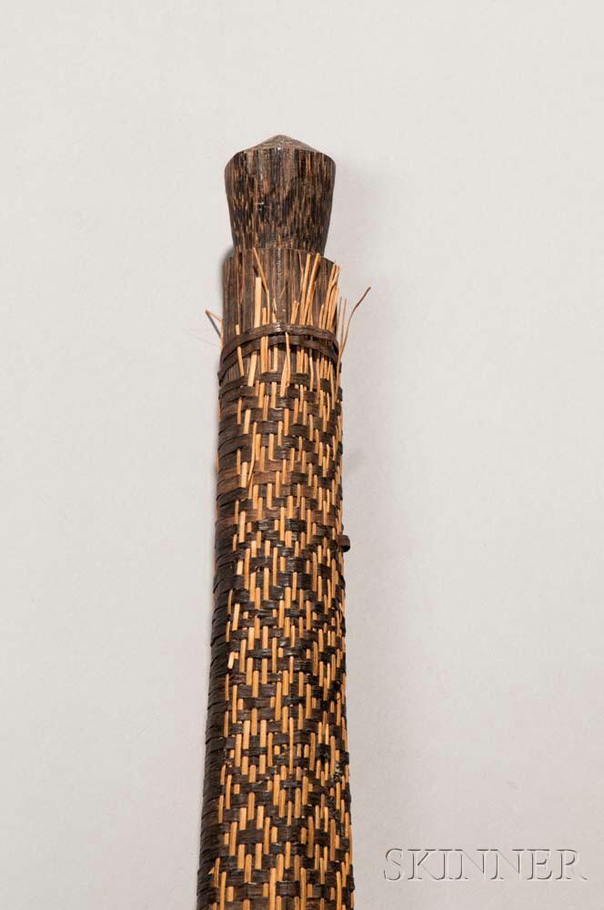 Amazonian Carved Palm Wood War Club
